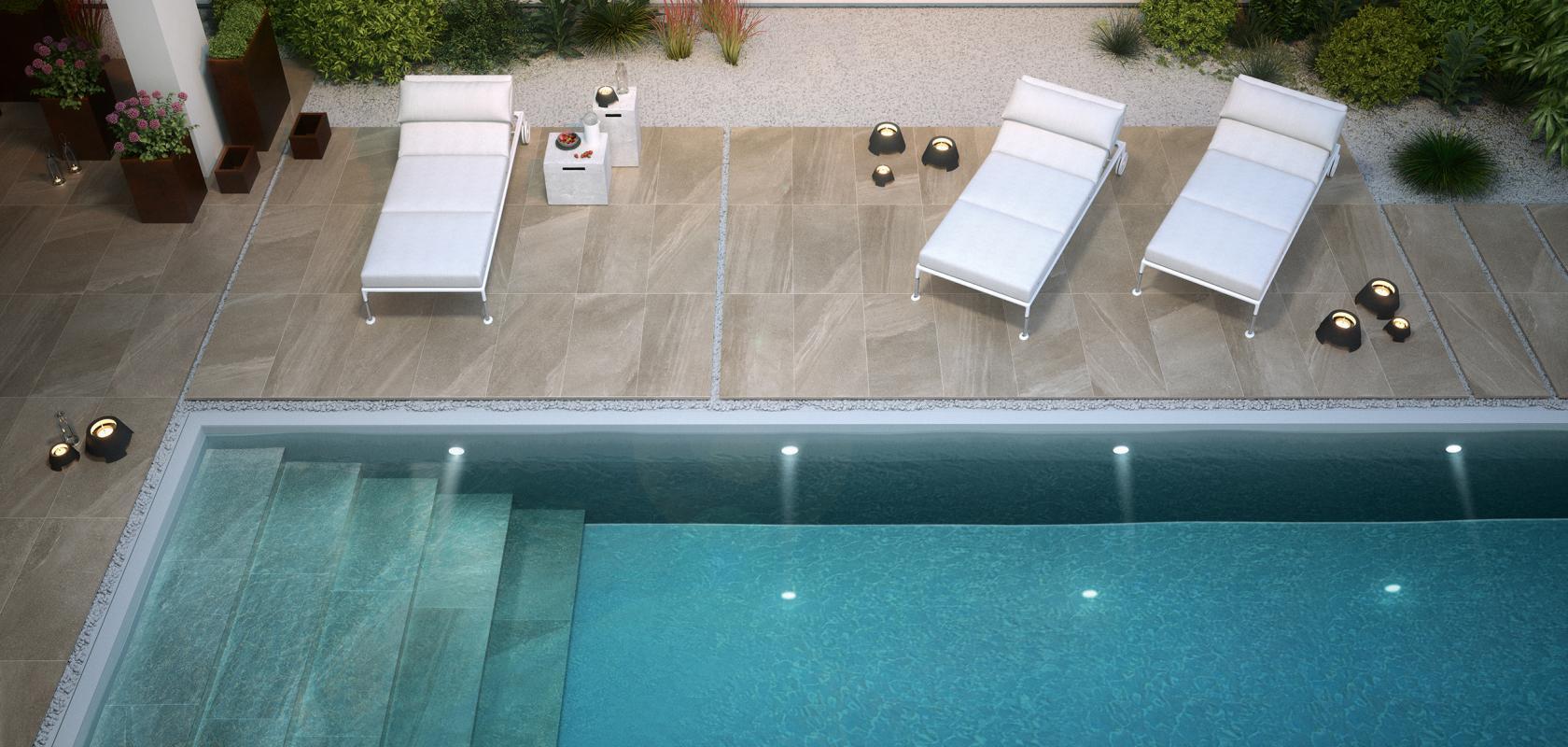 Pavimentazione per piscine for Adesivi per piscine